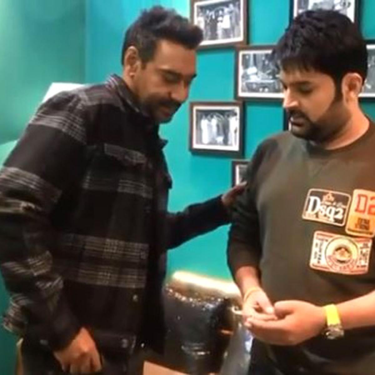 Corruption is everywhere: Ajay Devgn caught bribing Kapil Sharma to promote 'Tanhaji: The Unsung Warrior'