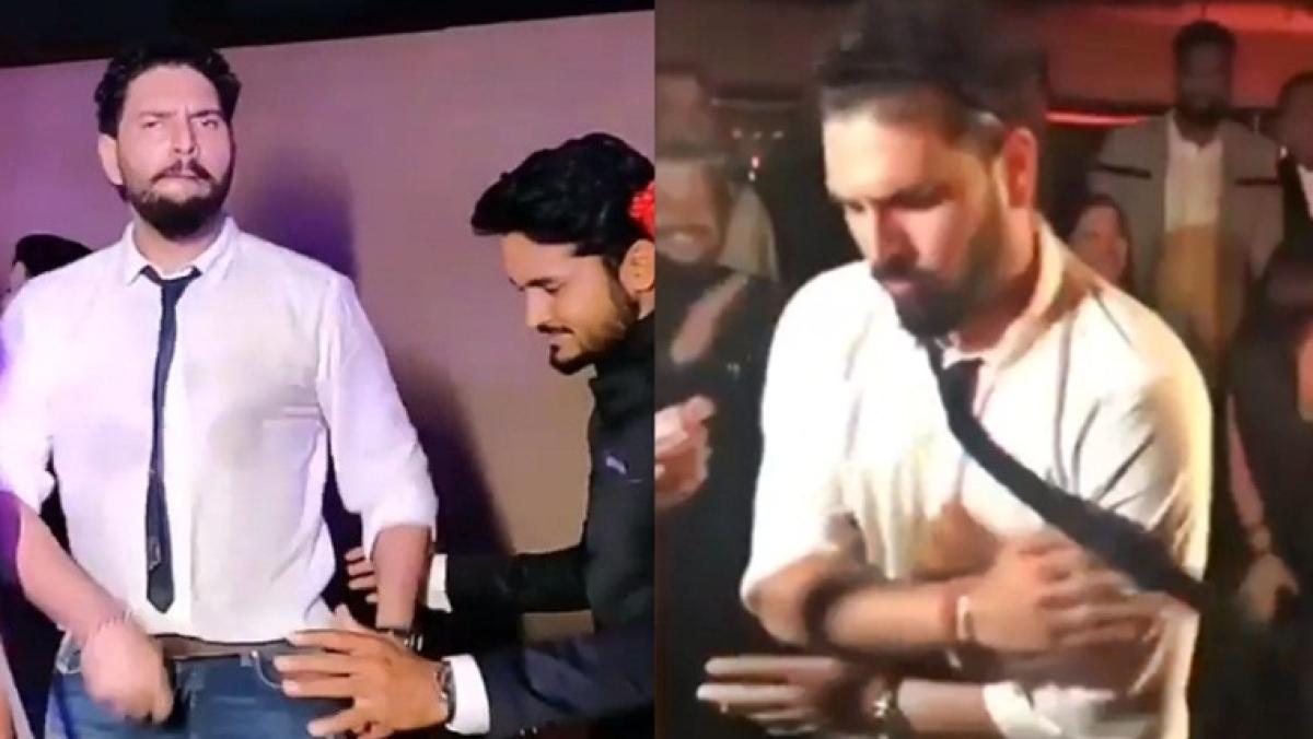 Watch video: Yuvraj Singh dances to 'Suit Suit Karda' at Manish Pandey's wedding reception