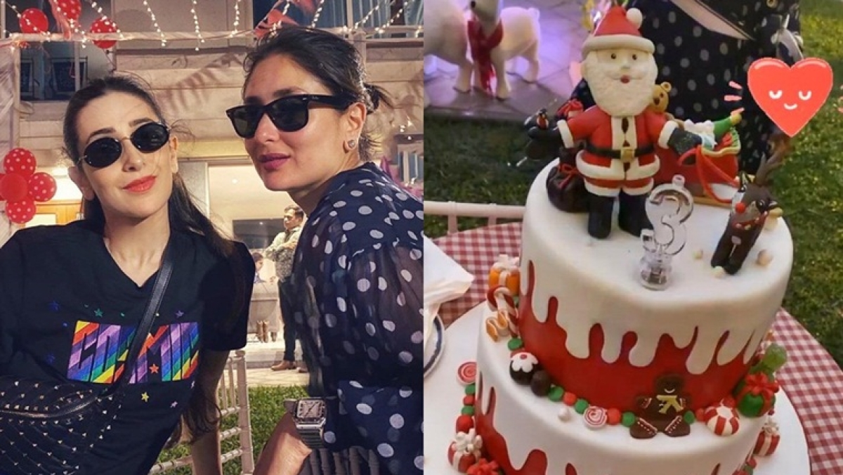 That's exactly what he wanted! Karisma Kapoor shares picture of Taimur's three-tier birthday cake