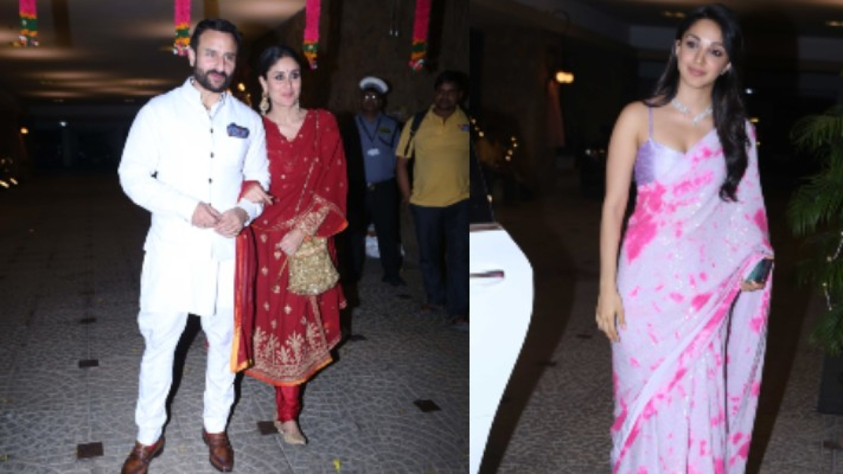 Inside Pics: Kareena blushes in red, Kiara blooms in pink for Armaan Jain's Roka ceremony