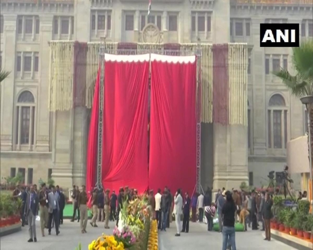 Uttar Pradesh: Preparations underway for unveiling Atal Bihari Vajpayee's statue by PM Modi