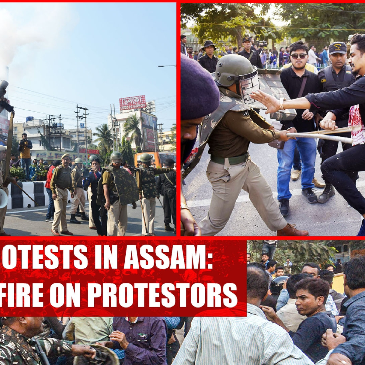 Anti-CAB protests in Assam: Police opens fire on protestors