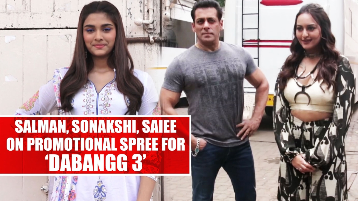 Salman Khan, Sonakshi Sinha, Saiee Manjrekar on promotional spree for 'Dabangg 3'