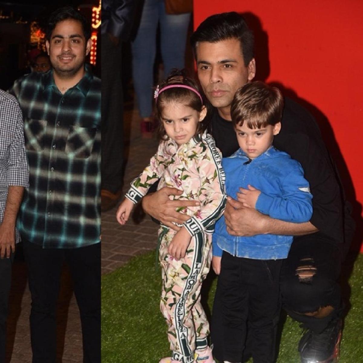 Shah Rukh Khan, Karan Johar arrive with their kids at Ambani's Jio Wonderland
