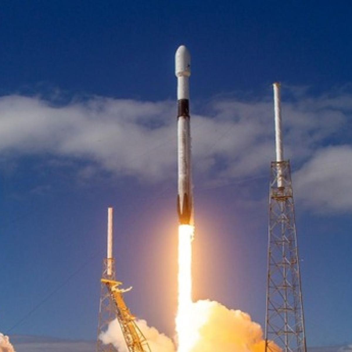 SpaceX spacecraft with 'mighty mice' launches to space station