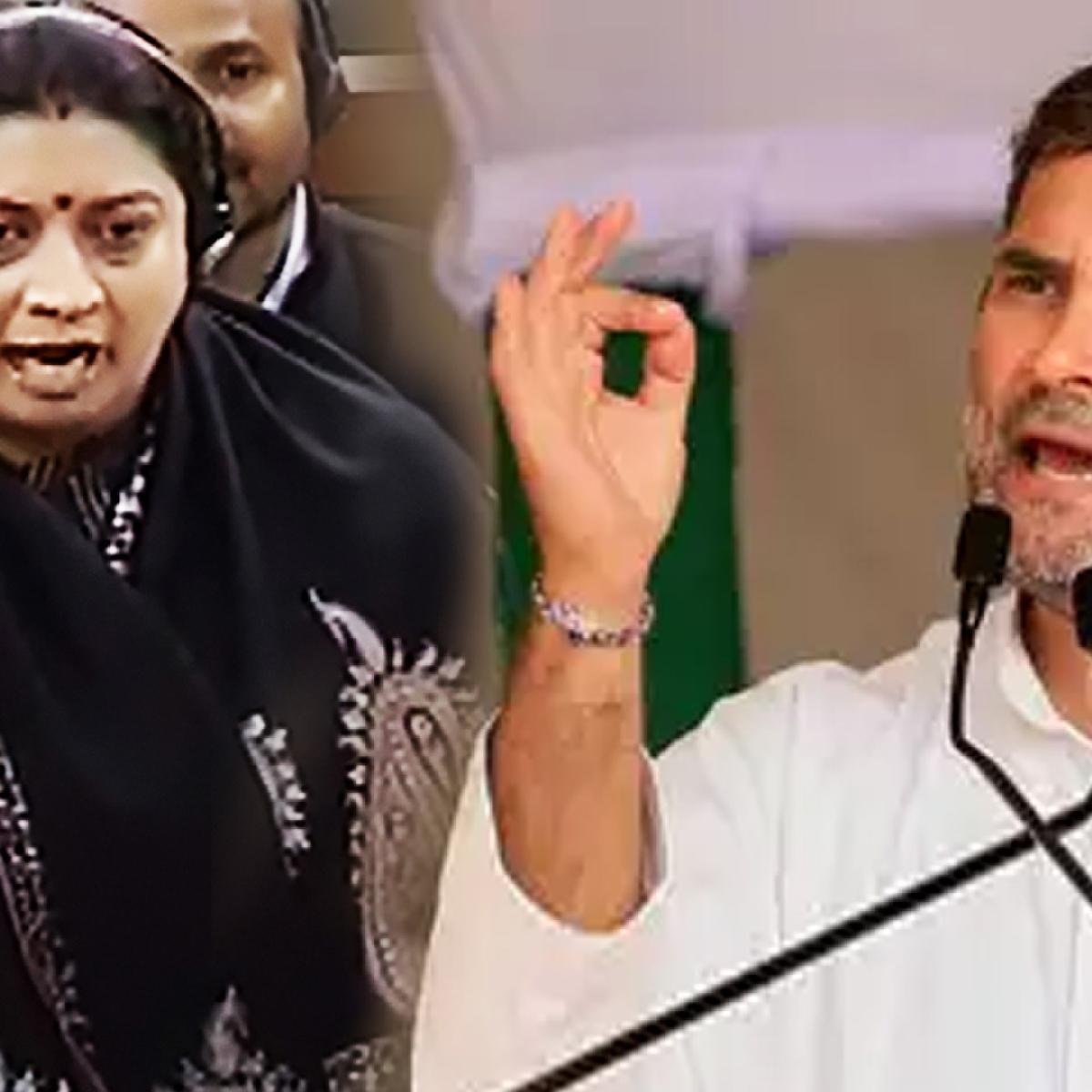 Smriti Irani slams Rahul Gandhi over 'rape in India'remark