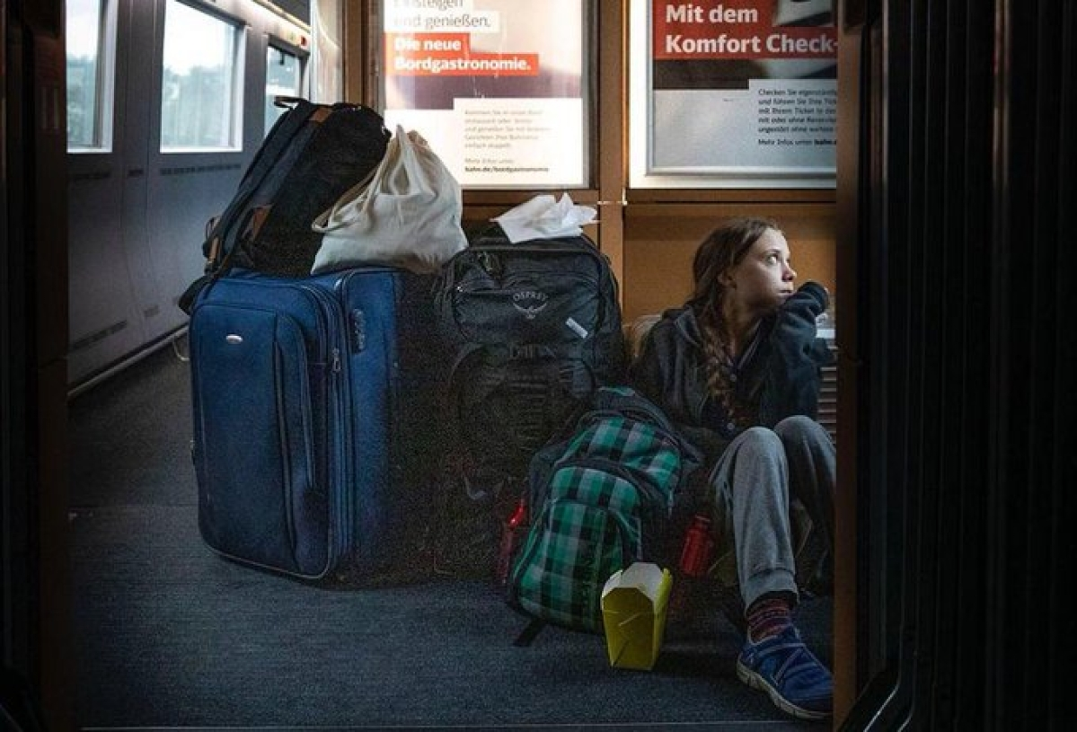 Thunberg, German rail firm get into Twitter spat for 'overcrowded trains'