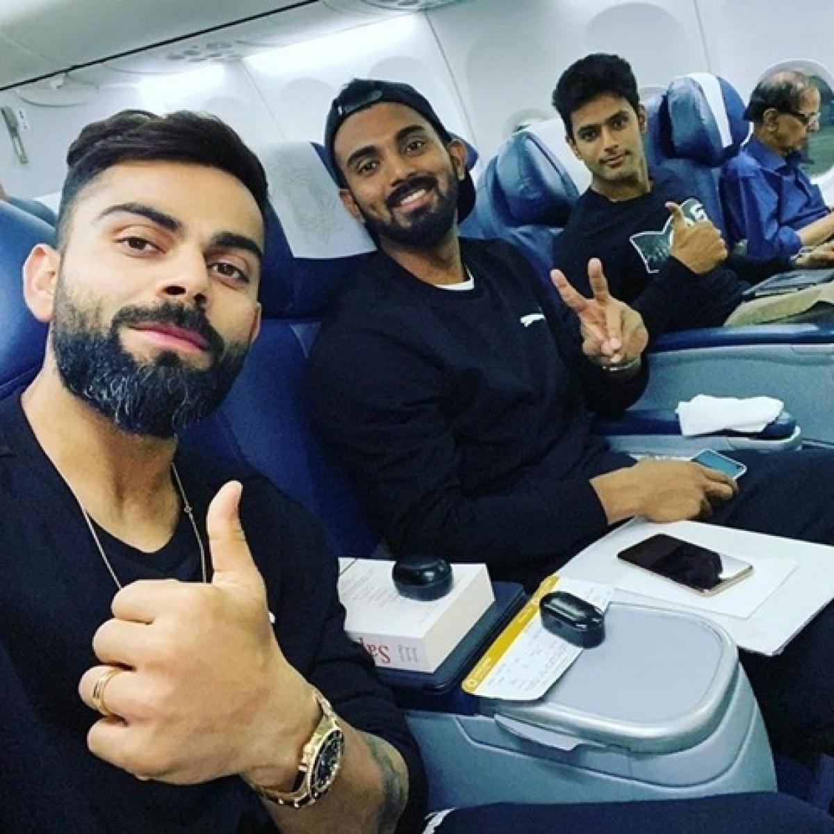 India vs West Indies:Virat Kohli shares selfie with KL Rahul, Shivam Dube ahead of T20I series