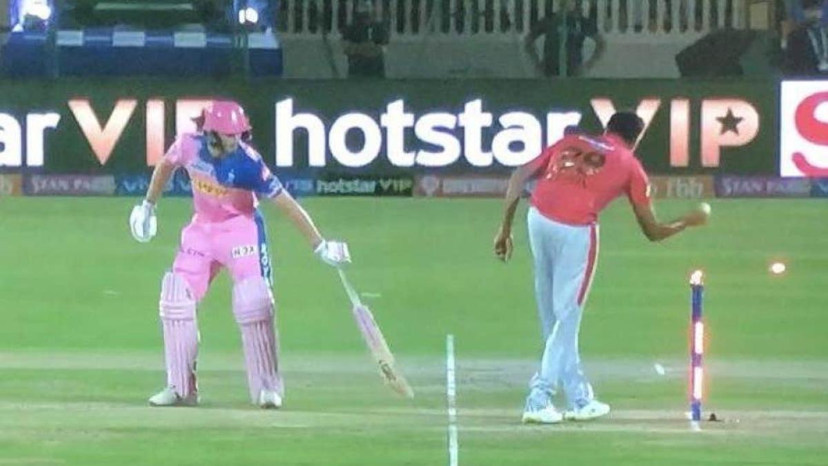 R Ashwin Mankads Jos Buttler during a IPL match bewtween Rajasthan Royals and Kings XI Punjab