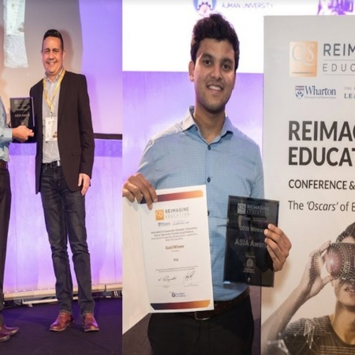 """IIT Gold-Medalist's innovation wins the """"Oscars"""" of education in London"""