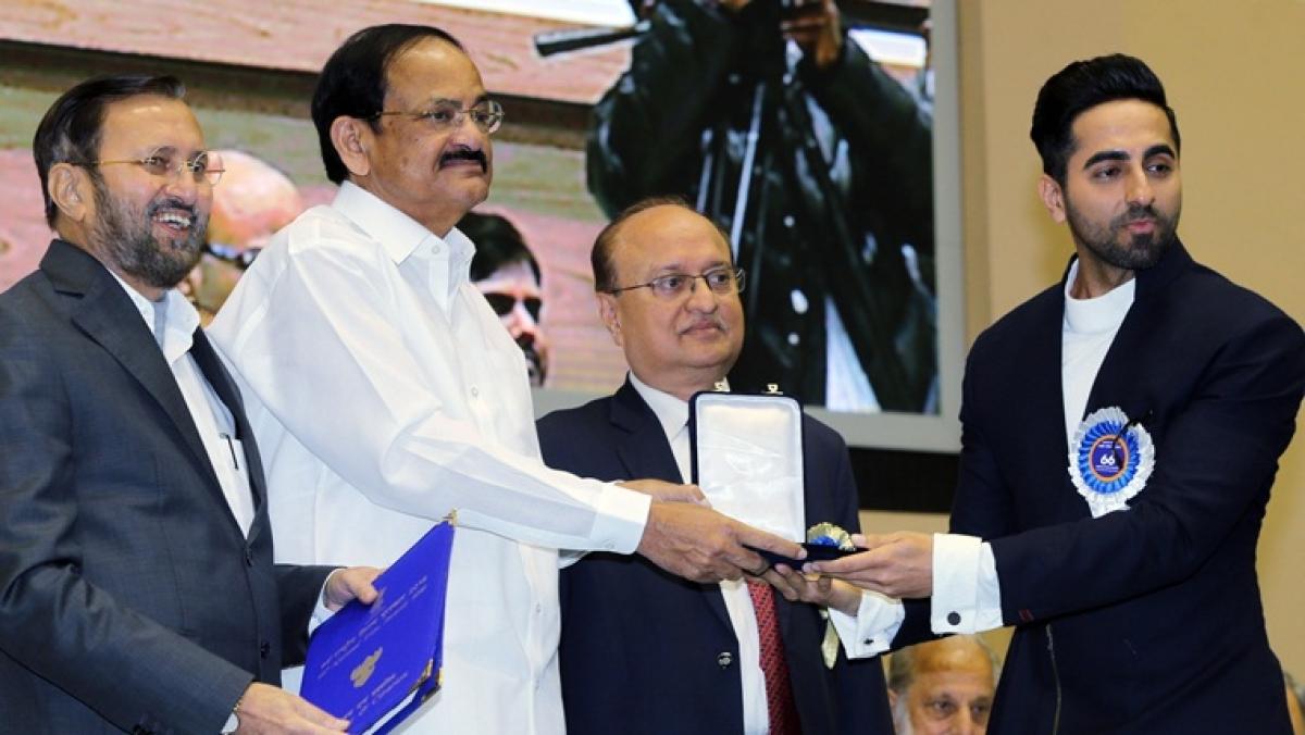 Ayushmann Khurrana receiving the National Award