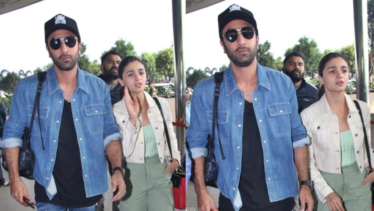 Alia Bhatt, Ranbir Kapoor at Mumbai airport