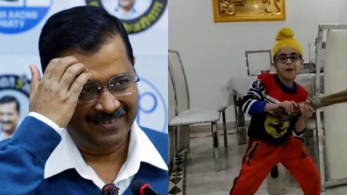 This kid dancing on #LageRahoKejriwal is the cutest thing you'll see today