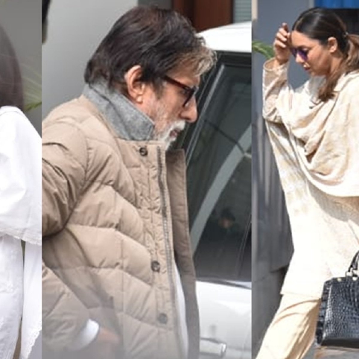 Aishwarya, Amitabh, and other celebs leave for Shweta Bachchan's mother-in-law Ritu Nanda's last rites