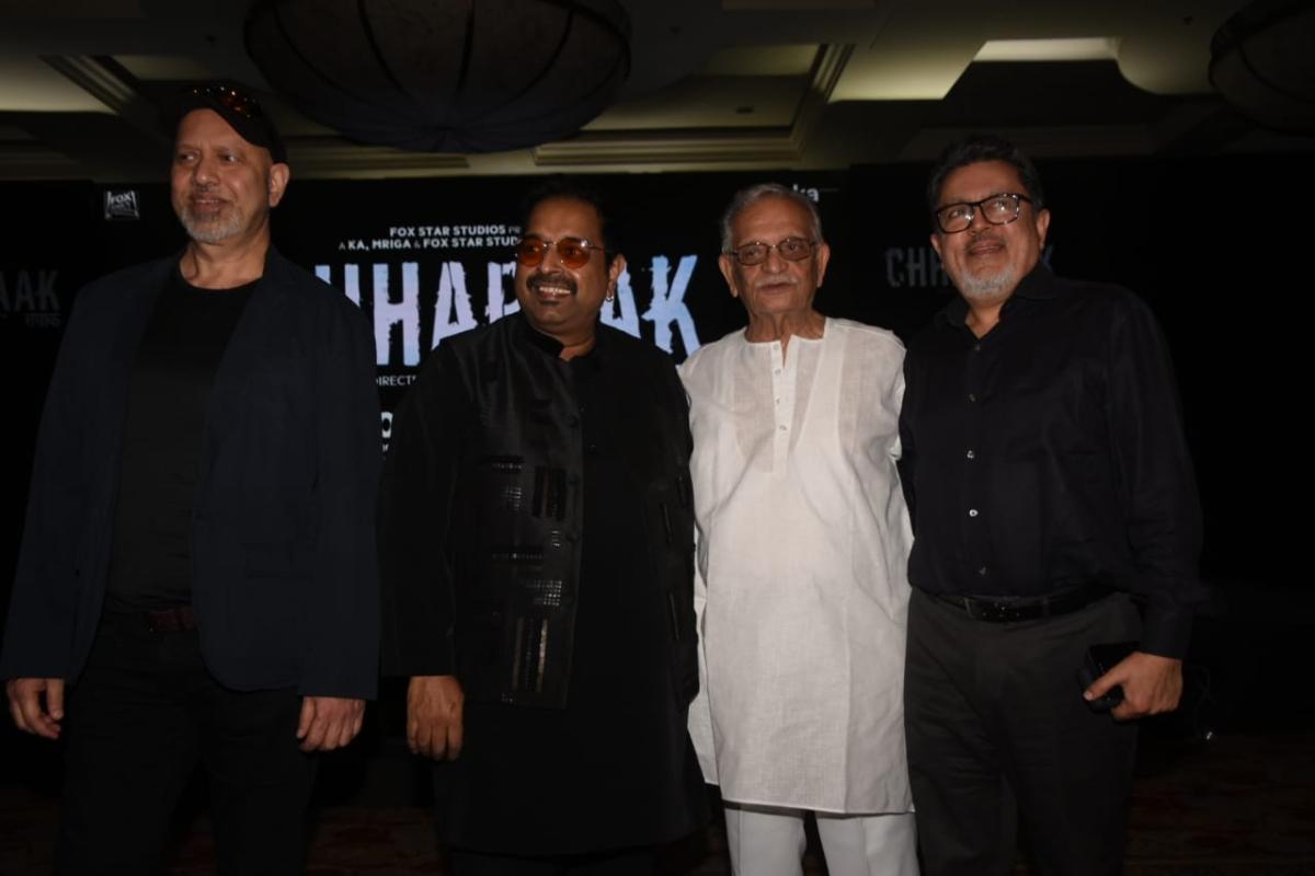 Shankar Ehsaan Loy and lyricist Gulzar Saab