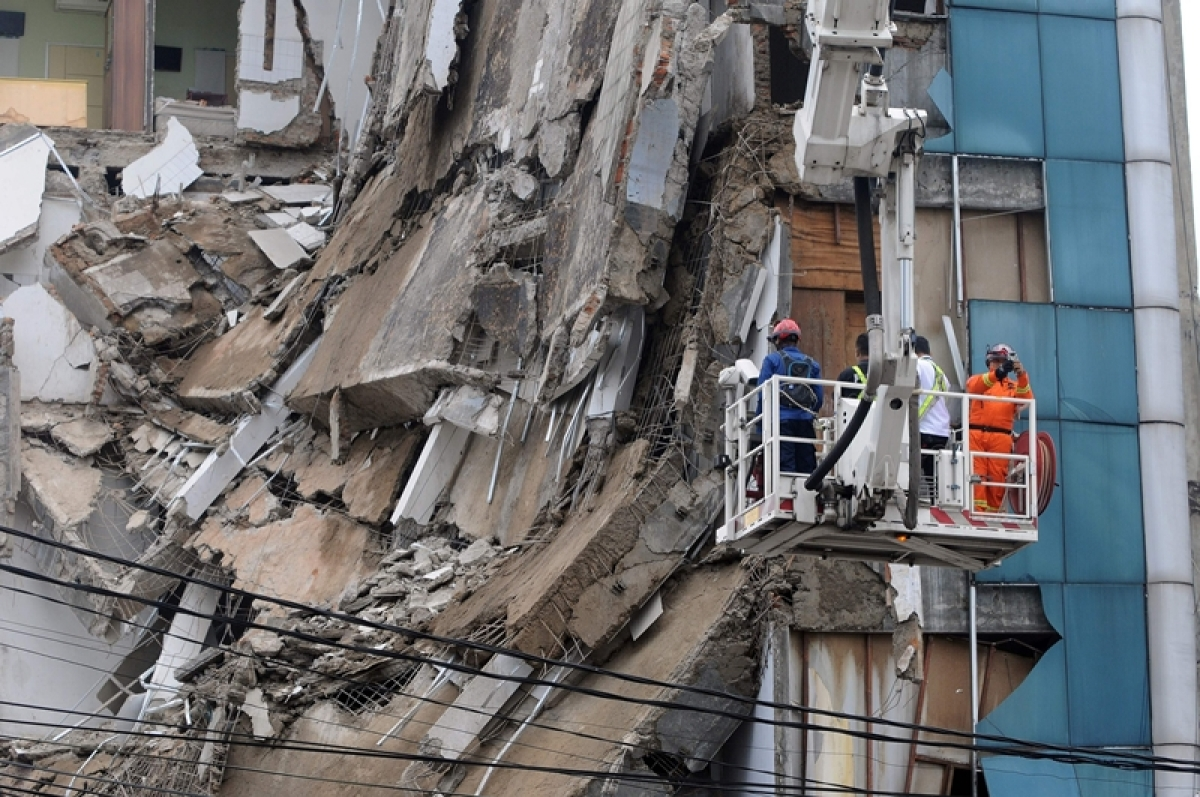 Five-storey building in Jakarta partly collapsed, injuring at least two people