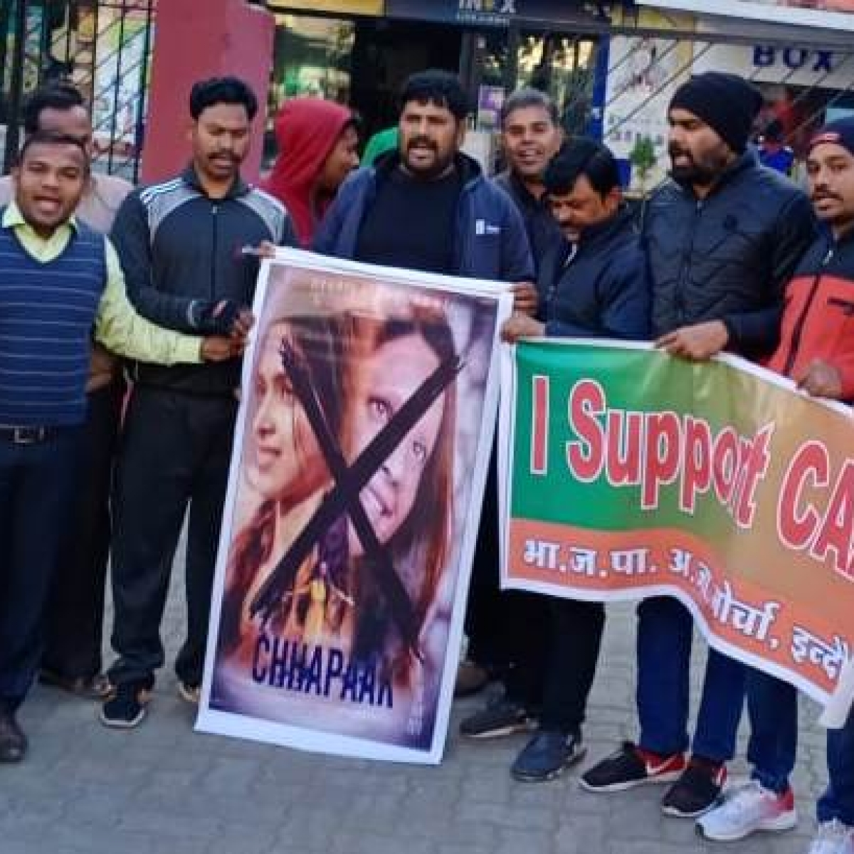 Friday blockbuster: Irked with Deepika, BJP workers burn posters of Chhapaak in Indore