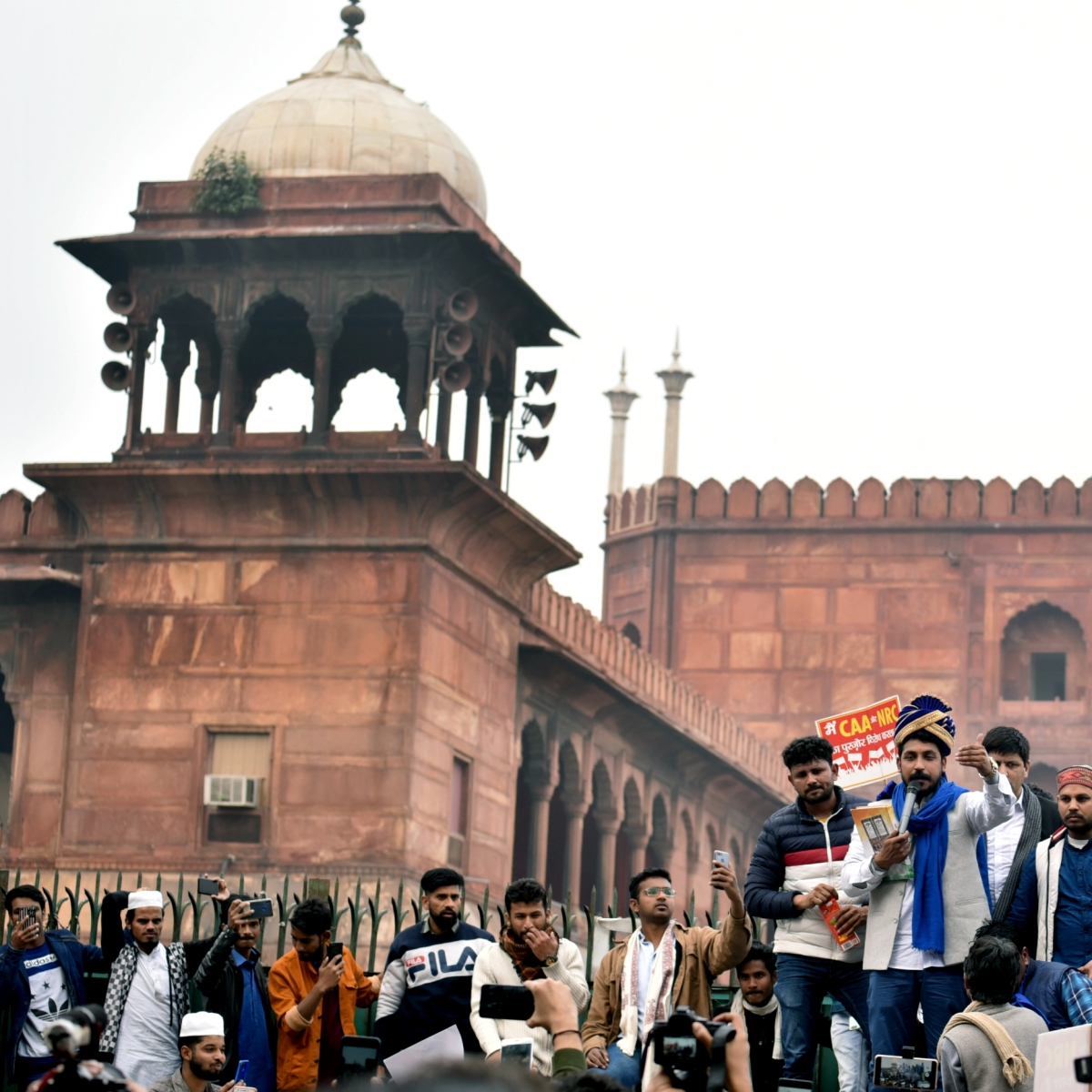 Bhim Army chief visits Jama Masjid after release from Tihar Jail