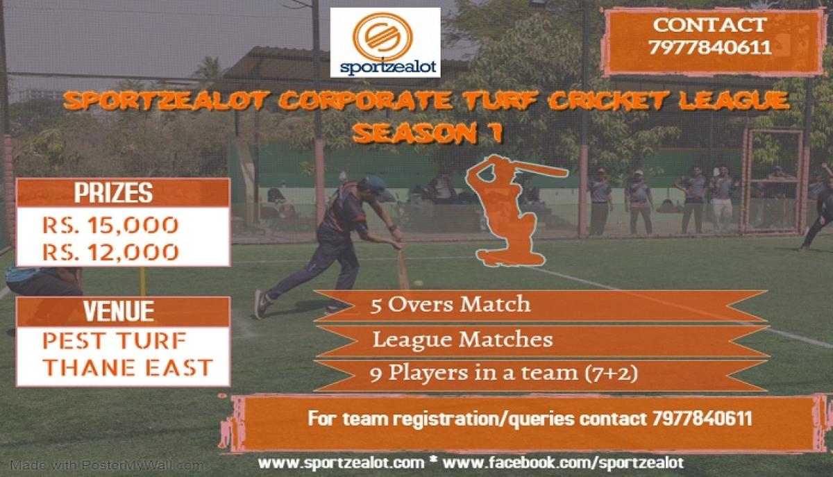 Sportzealot launches Corporate Turf Cricket League Season 1