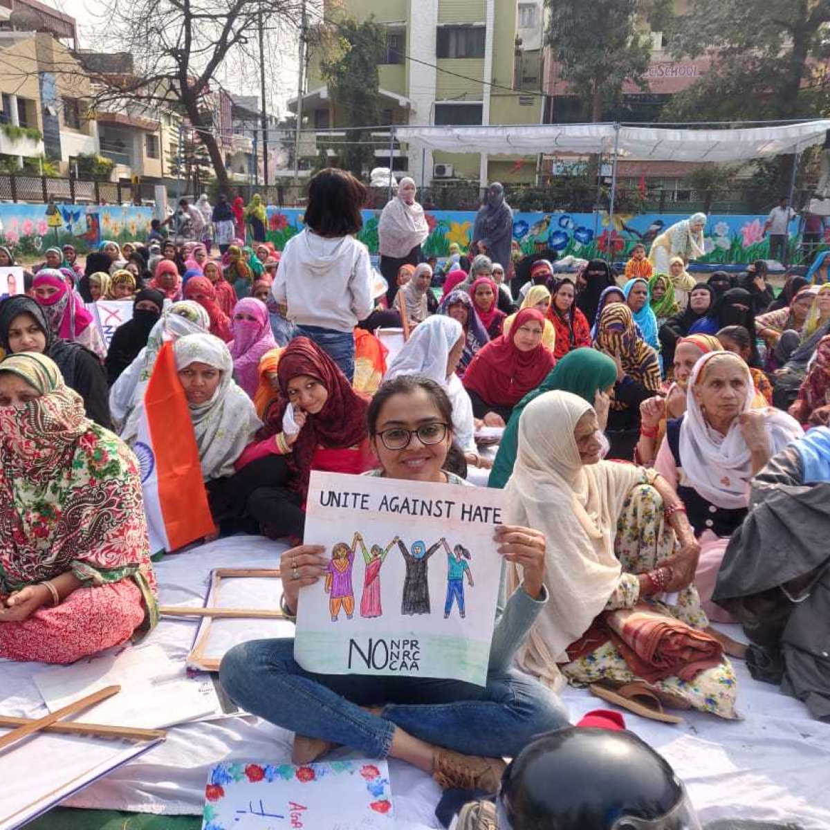 Mumbai women stage Shaheen Bagh-like protest in Madanpura