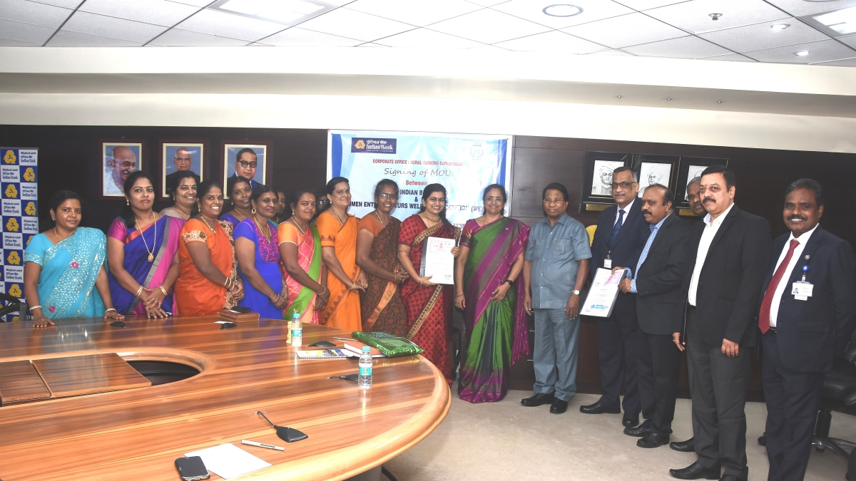 Indian Bank signs MOU with WEWA