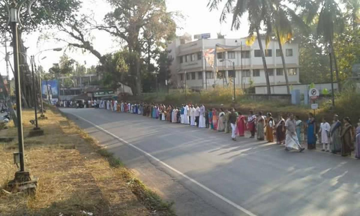 Kerala CM Pinarayi Vijayan participates in human chain against CAA, NRC organised by LDF