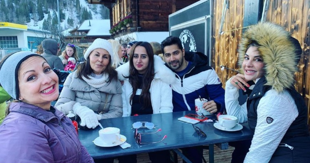 Jacqueline Fernandez's picture with lovebirds Varun Dhawan and Natasha Dalal is all things happy