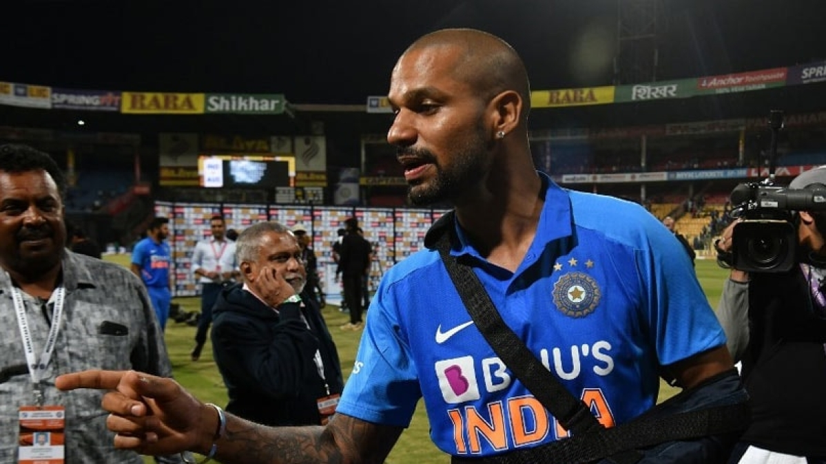 Shikhar Dhawan after India's third ODI against Australia.