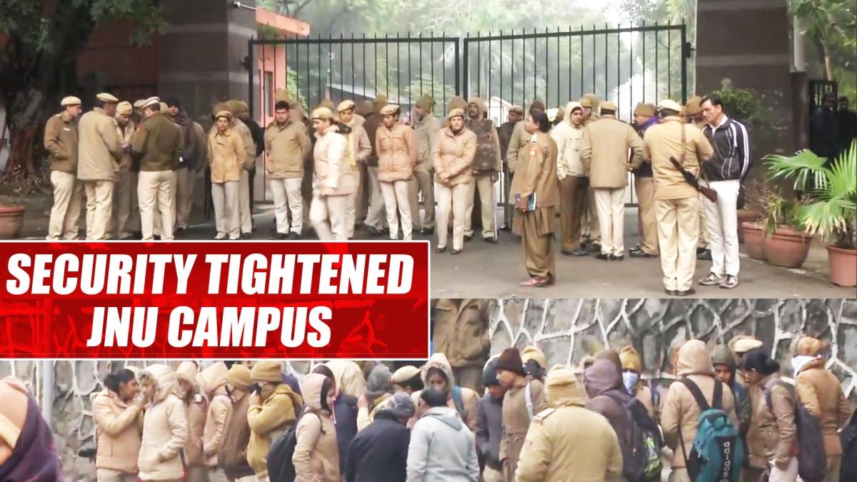 Security tightened at JNU campus