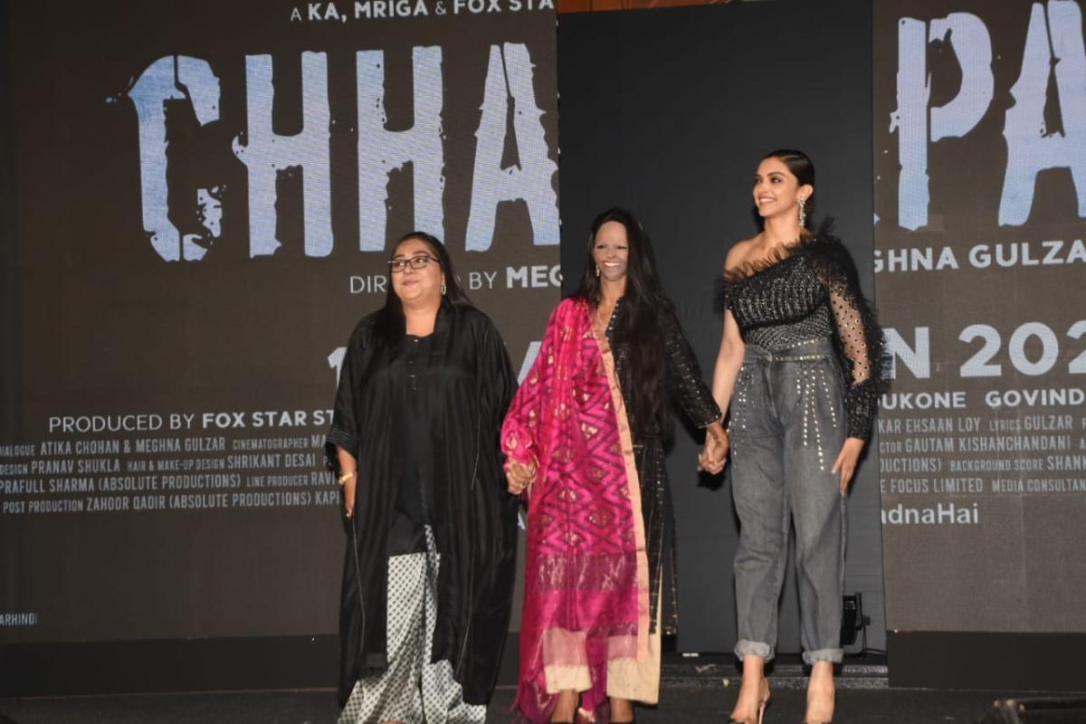 Deepika Padukone, Laxmi Agarwal and Meghna Gulzar