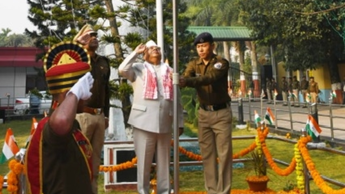 N.F. Railway Construction Organisation HQ Celebrates Republic Day