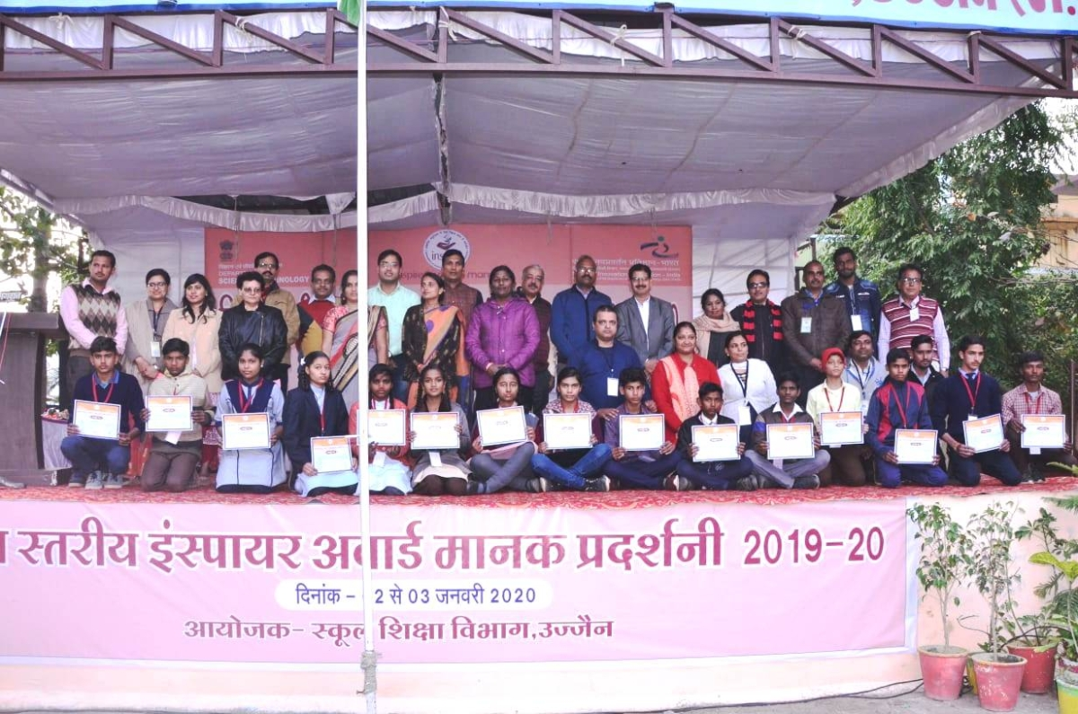 Students selected for state level exhibition.