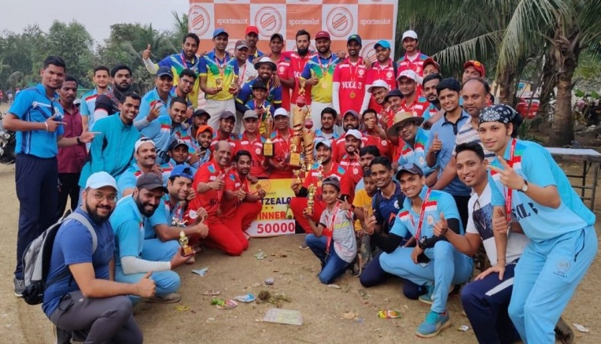 Saraswat Bank team wins Sportzealot's Corporate Tennis-ball Cricket Season 3