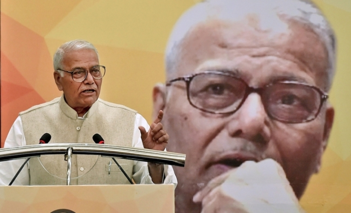 After being panned for saying Doordarshan considers India 'Hindu Rashtra', Yashwant Sinha hits out at 'Bhakts'