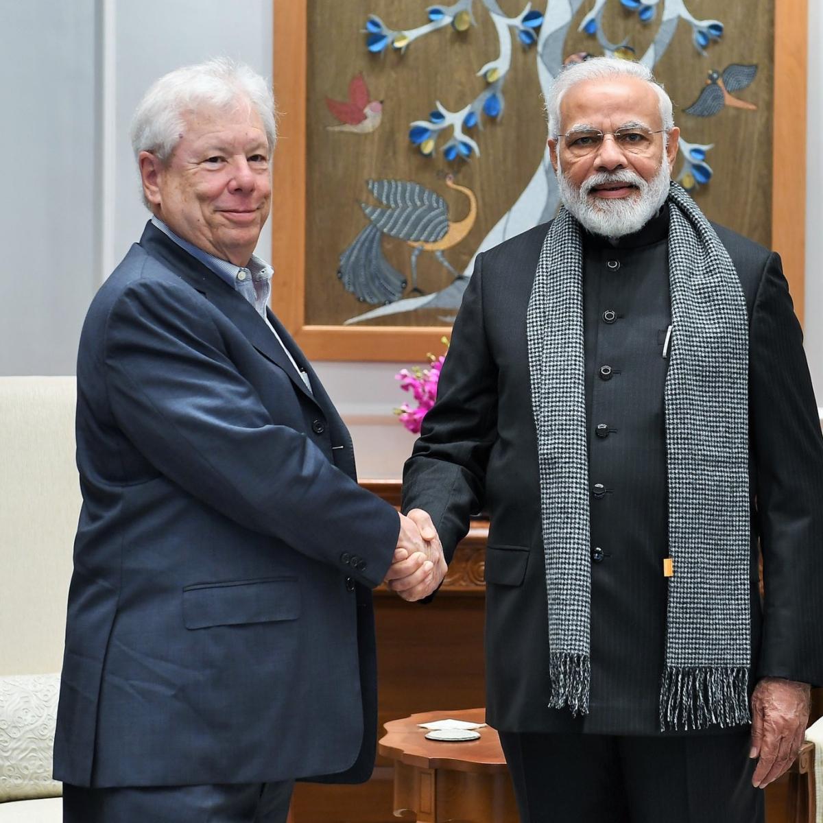 PM Modi meets Nobel Laureate whose tweet BJP cited to justify demonetisation