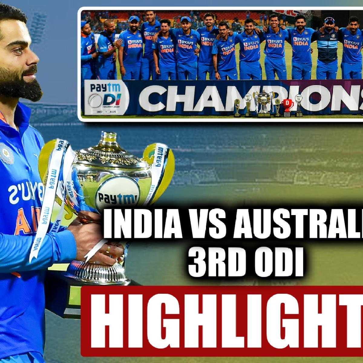 IND vs AUS 3rd ODI Highlights: Rohit, Kohli guide India to series win over Australia