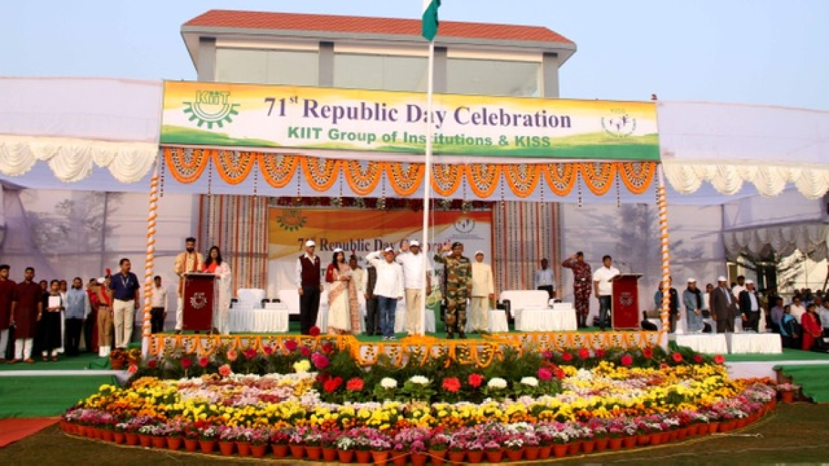 71st Republic Day Celebrated in KIIT & KISS