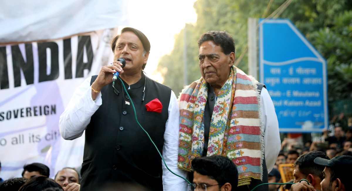 'Police action on Jamia students a blot on nation, CAA discriminatory': Shashi Tharoor