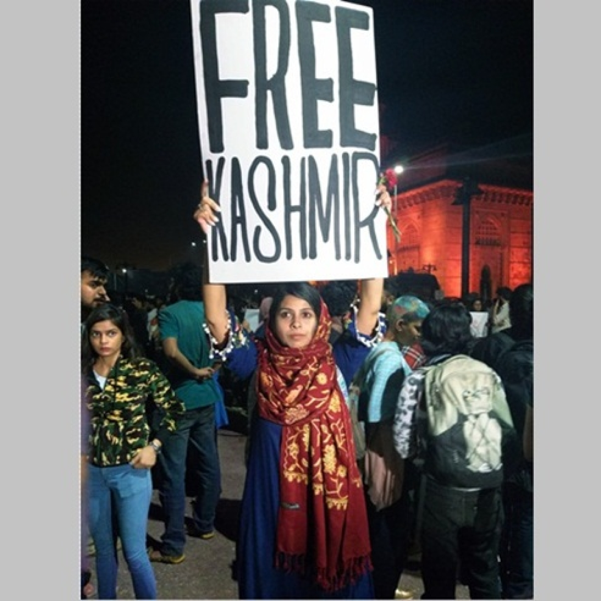 'Free Kashmir' poster queers pitch at Mumbai protest against JNU violence
