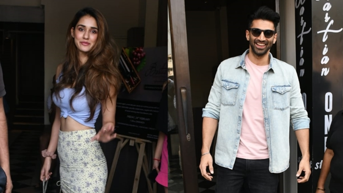 Not Tiger Shroff, but Disha Patani steps out for Sunday brunch with Aditya Roy Kapur