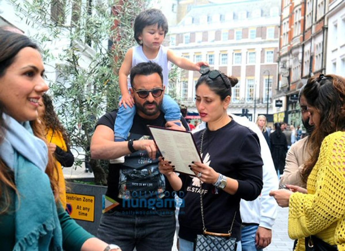 'Jawaani Jaaneman' BTS pics: Kareena Kapoor, Saif Ali Khan can't decide what to order while Taimur wants sunnies