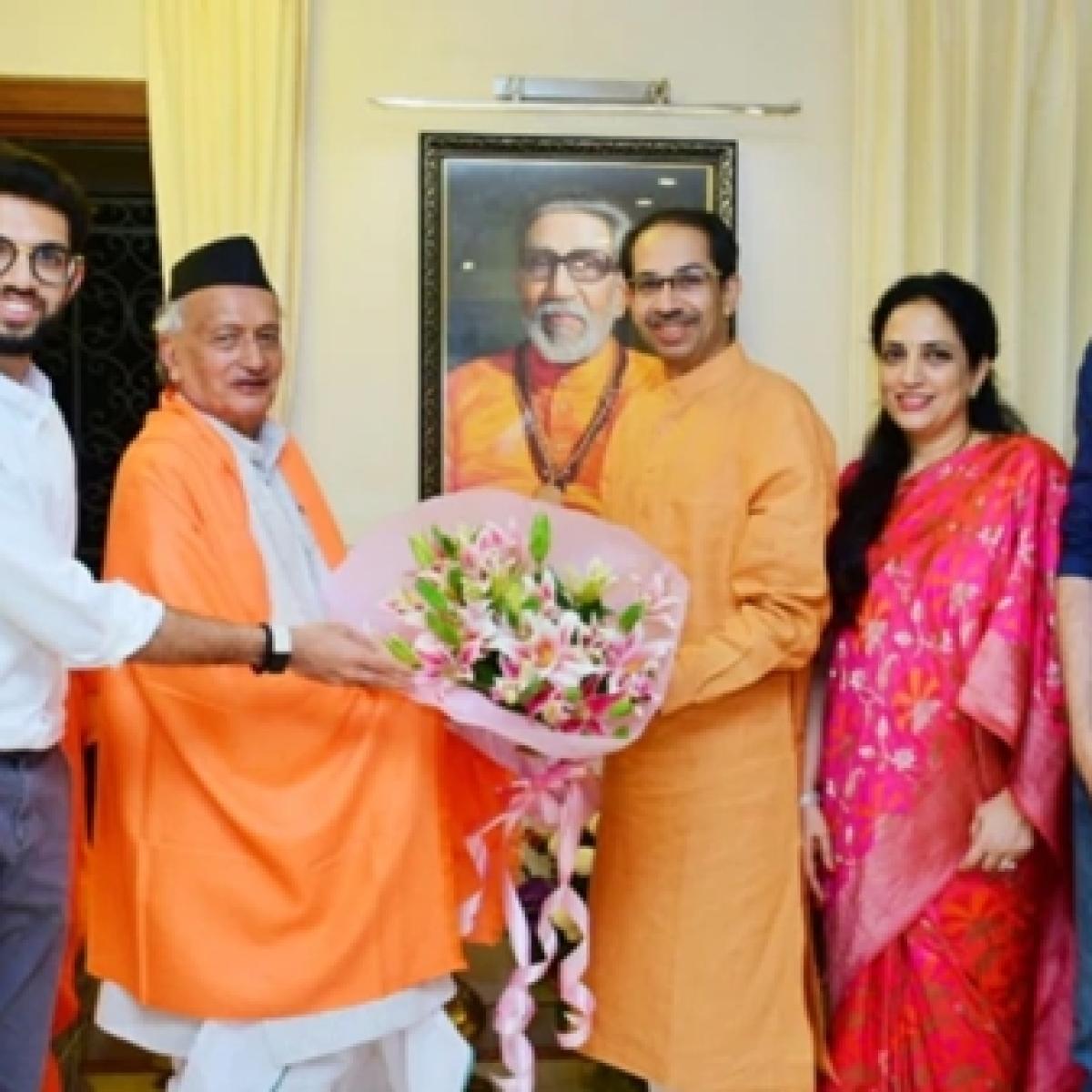 Dinner diplomacy: Governor meets Thackeray's at Matoshree