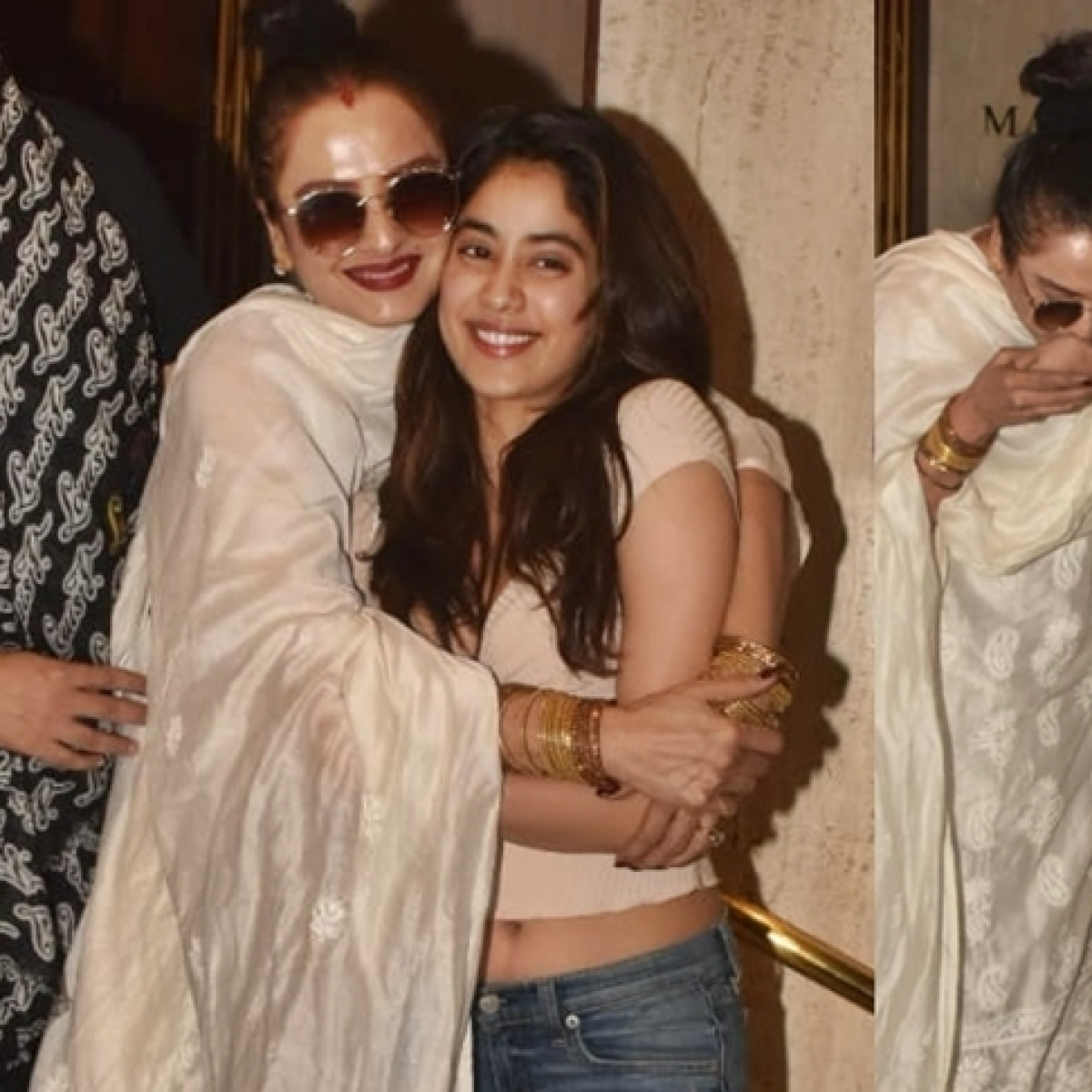 Rekha is in awe of Janhvi Kapoor, pours her heart out with loads of hugs and kisses