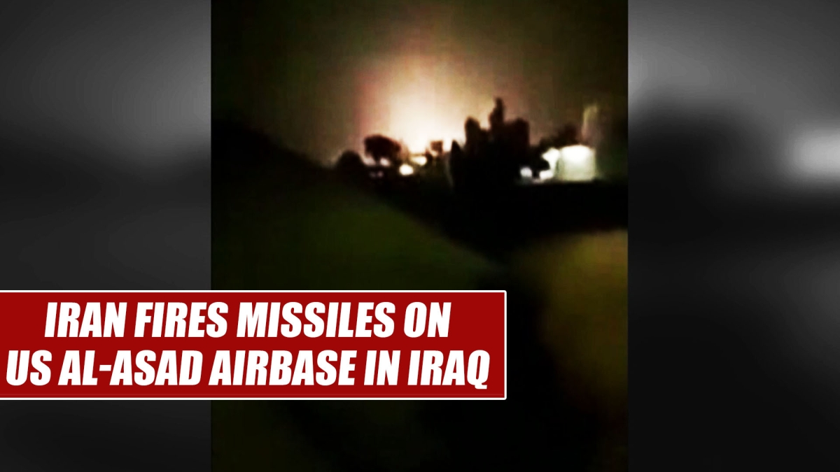 Watch: Iran fires missiles on US Al-Asad airbase in Iraq