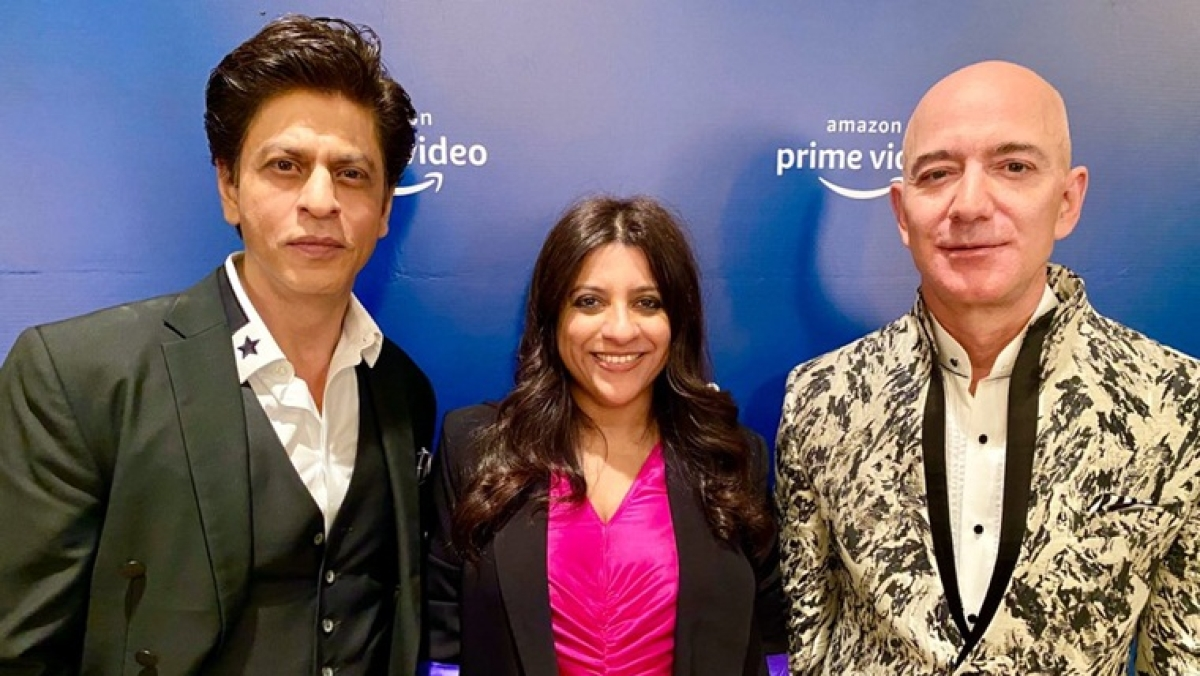 In pics: Amazon CEO Jeff Bezos gets a warm welcome from Bollywood stars