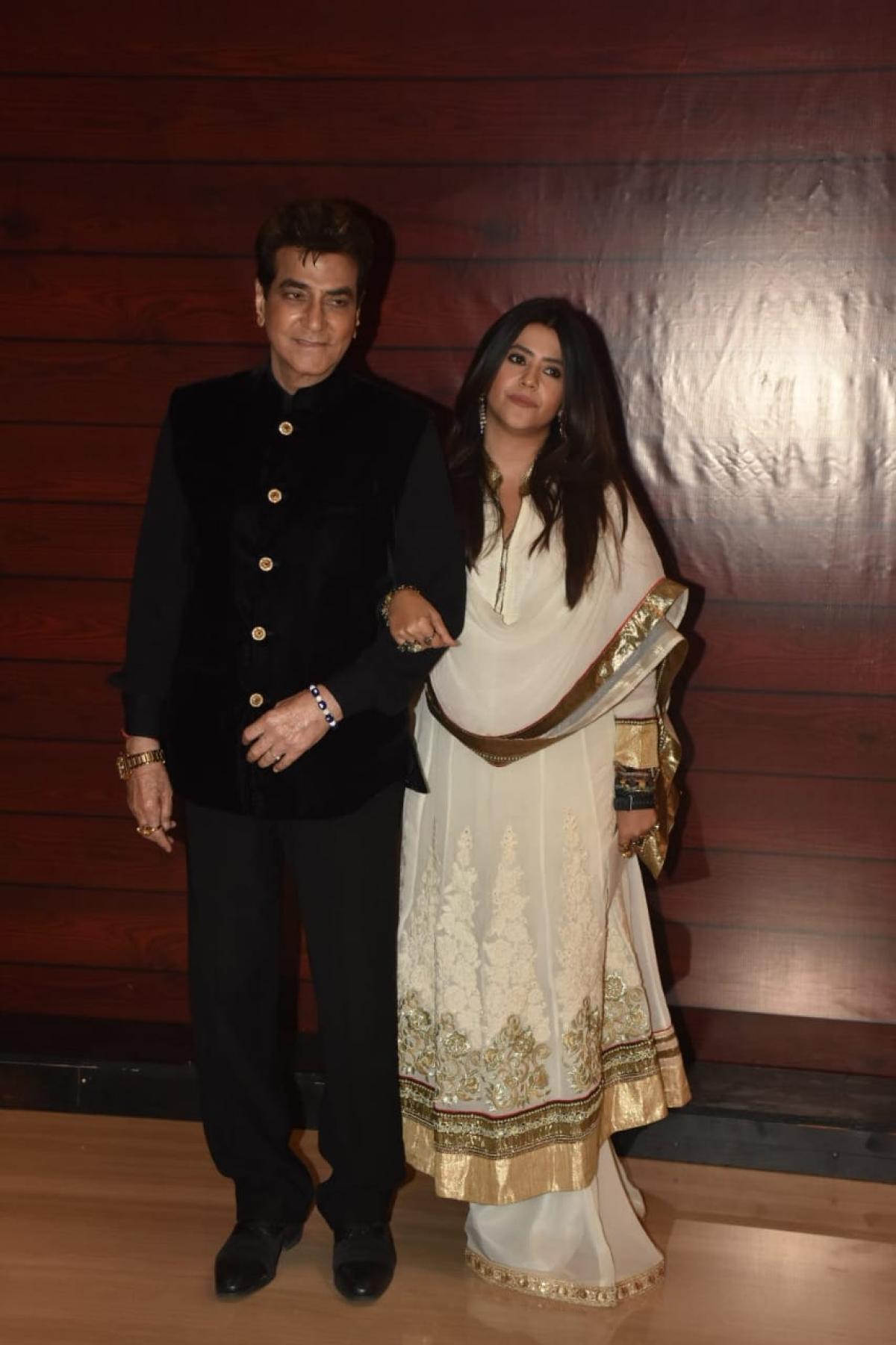 Jeetendra with daughter Ekta Kapoor