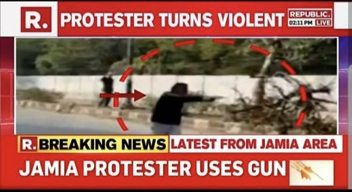'Do you have a shred of shame left?': Twitter slams news channel for Jamia shooter as 'anti-CAA protester'