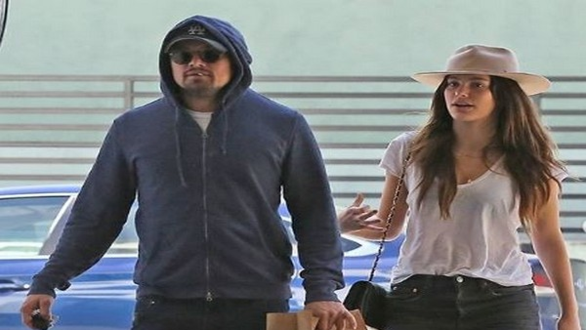 Leonardo DiCaprio with girlfriend Camila Morrone