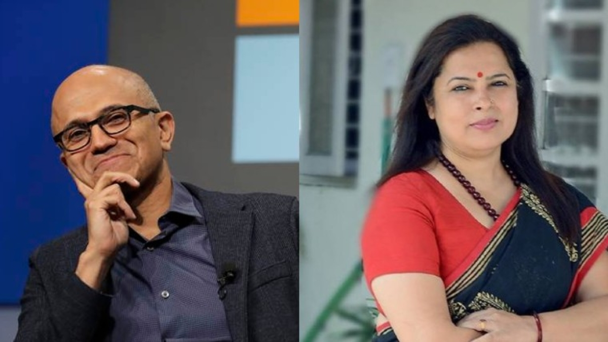 'Satya Nadella should go to WhatsApp University': Twitterati mock Meenakshi Lekhi for saying Microsoft CEO needed to be 'educated'