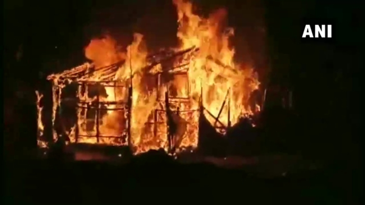 BJP party office set ablaze in West Bengal's Asansol